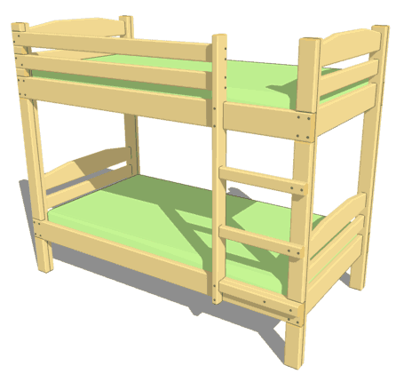 Picture plans for bunk beds