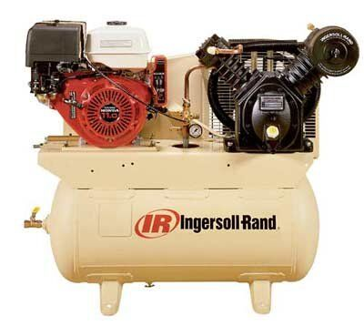 Ingersoll rand 30 gallon gas powered air comp