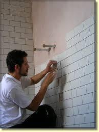 tiling bathroom