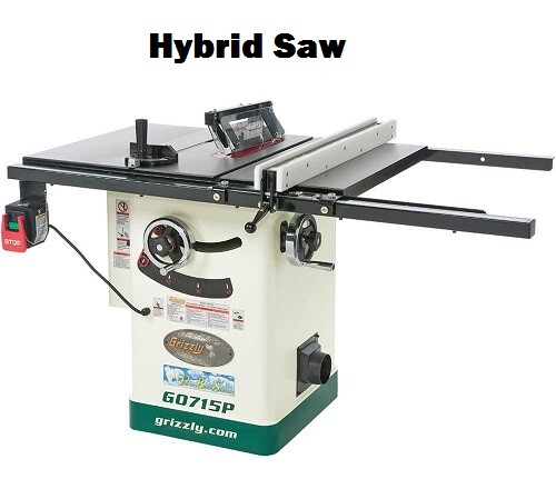 Hybrid table daw