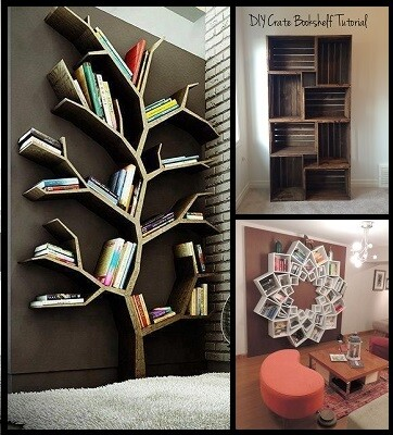 10 Creative DIY bookshelf ideas