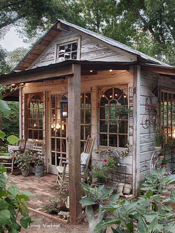 This stunning garden shed was built entirely from reclaimed wood ...